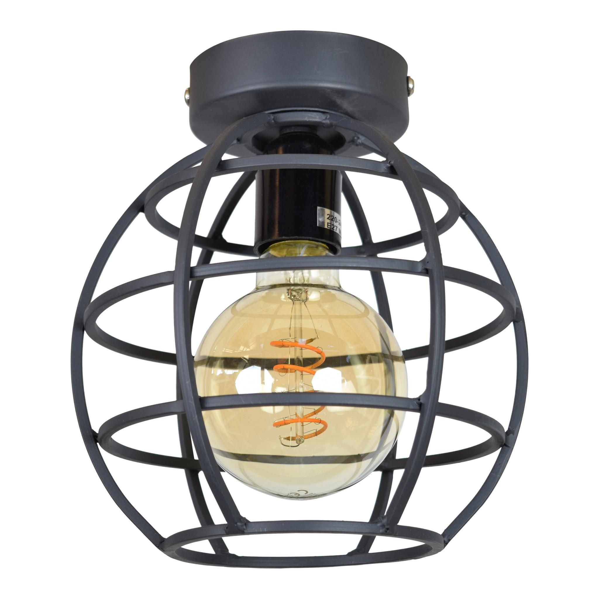 Urban Interiors Plafondlamp Globe small Ø 19 cm Zwart