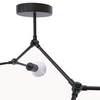 Plafondlamp Twig L 79 cm H 54 cm zwart
