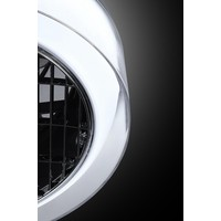 Plafondventilator No. 5 Ø 40 cm  Antraciet-rand wit-helder