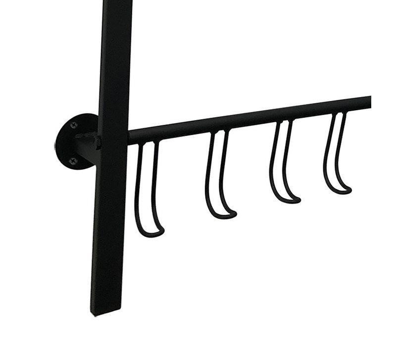 Kapstok Big-Black B 70 cm H 90 cm Zwart