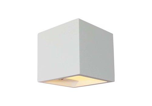 Artdelight Wandlamp Plaster 11,5 x 11,5 cm Gips excl. G9 wit