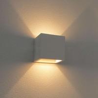 Wandlamp Plaster 11,5 x 11,5 cm Gips excl. G9 wit