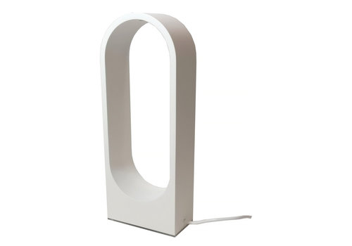 Artdelight Tafellamp Porta H 30 cm B 12 cm wit