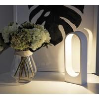 Tafellamp Porta H 30 cm B 12 cm wit