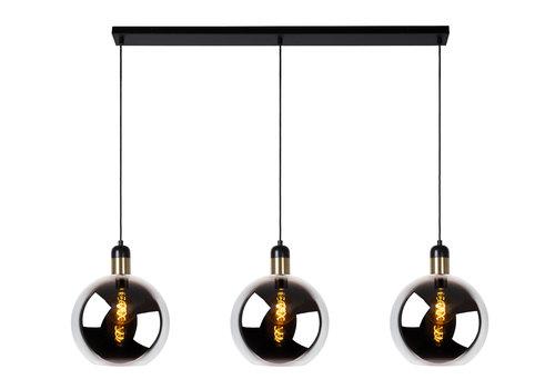 Lucide JULIUS Hanglamp-Fumé-3xE27-40W-Glas