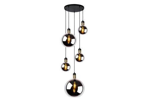 Lucide JULIUS Hanglamp-Fumé-5xE27-40W-Glas