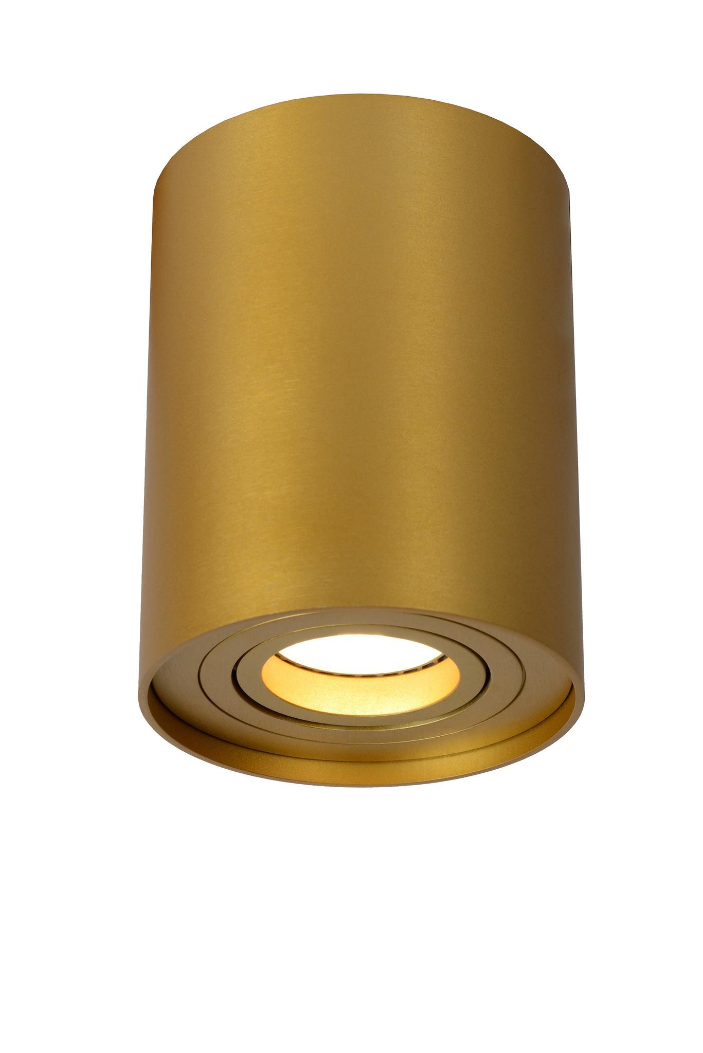 Lucide TUBE Spot Opbouw GU10 Rond D9.6 H12.5cm Mat goud/M