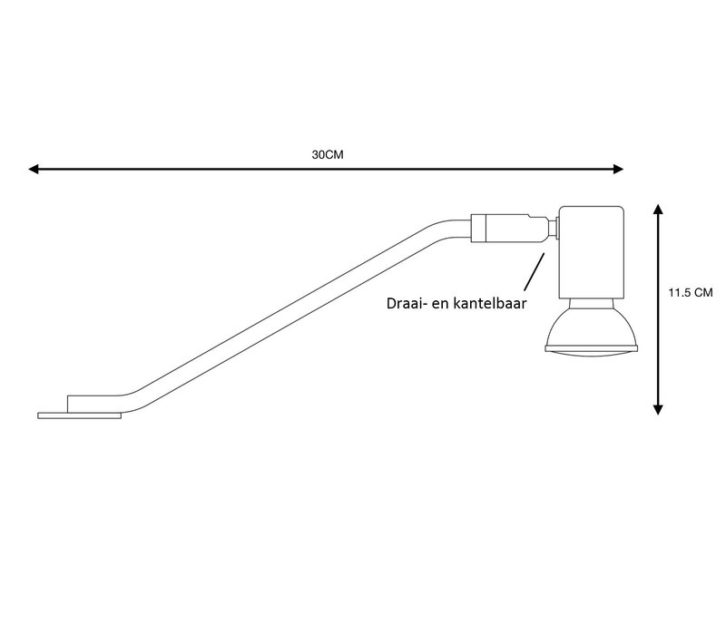 Kast verlichting Delore L30 cm excl. GU10 mat chroom