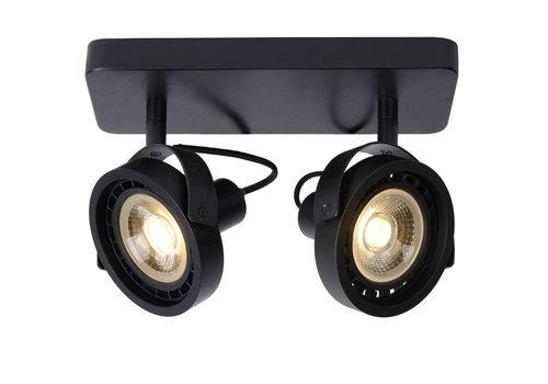 Lucide TALA LED Spot  2xGU10/12W DTW Zwart