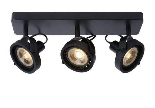 Lucide TALA LED Plafondspot-Zwart-LED DTW-3xGU10-12W
