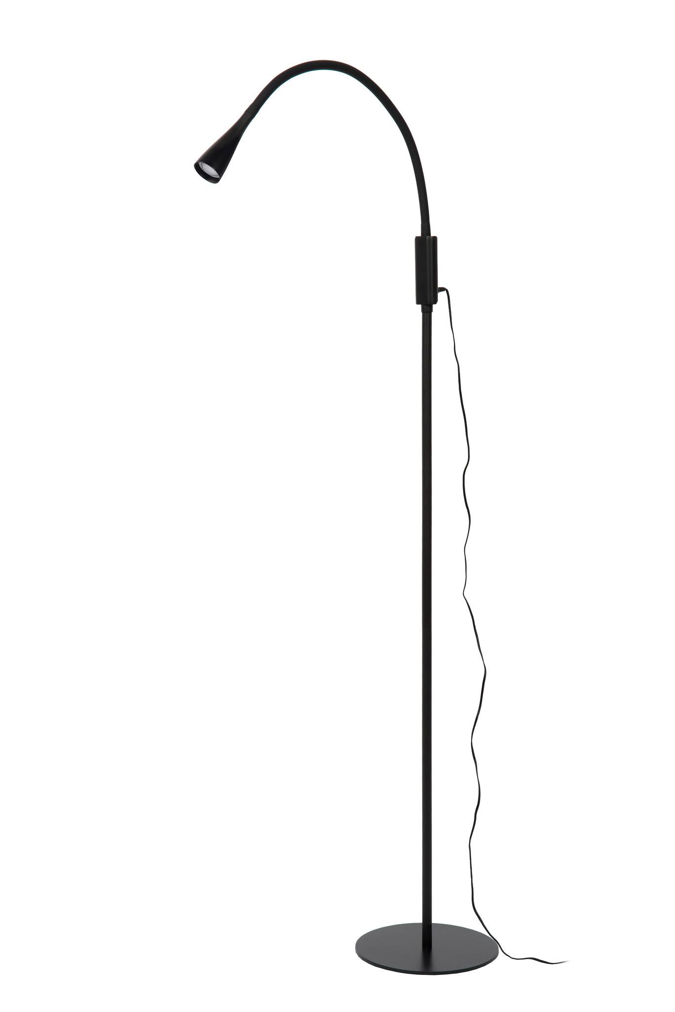 Lucide ZOZY Leeslamp-Zwart-LED Dimb.-4W-3000K-3 StepDim