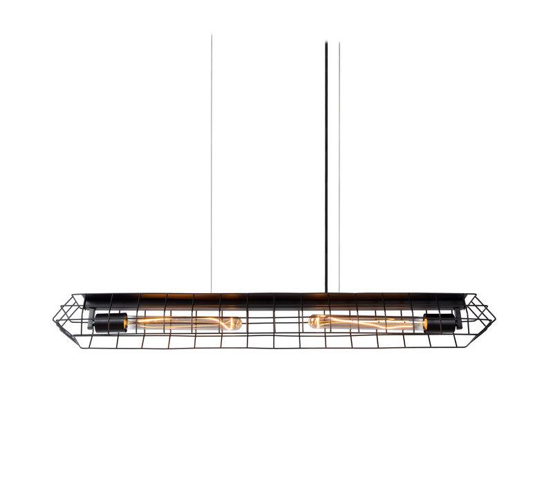LATTICE Hanglamp E27/40W Zwart