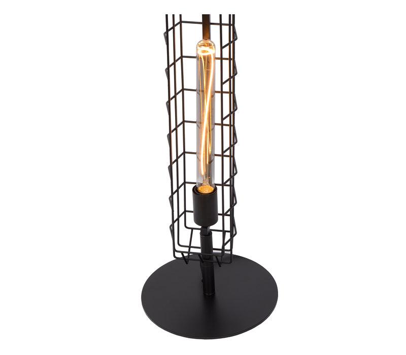 LATTICE Vloerlamp E27/40W Zwart