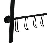 Kapstok met 8 haken 70 cm breed - 90 cm hoog Zwart
