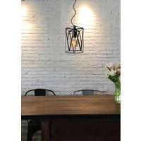 FERN Hanglamp E27/60W Ø20cm H25cm Zwart /Glas