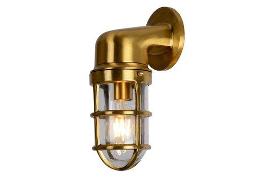 Lucide DUDLEY Buiten Wandlamp Down IP44 E27/60W Mat goud