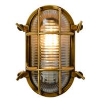 DUDLEY Buiten Wandlamp Ovaal IP65 E27/60W Mat gou