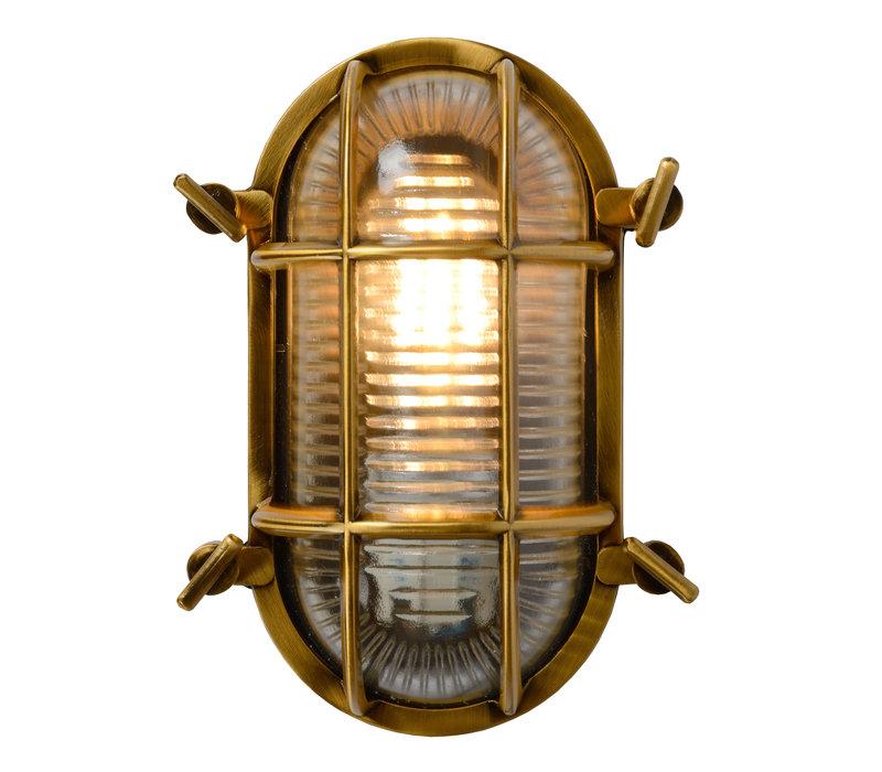 DUDLEY Buiten Wandlamp Ovaal IP65 E27/40W Mat gou