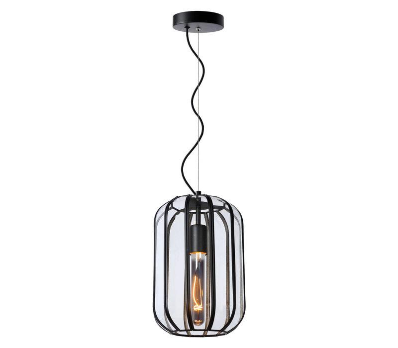 FERN Hanglamp E27/60W Ø20cm H30cm Zwart /Glas