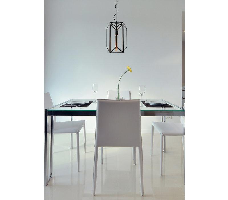 FERN Hanglamp E27/60W Ø28 cm H 40cm Zwart /Glas