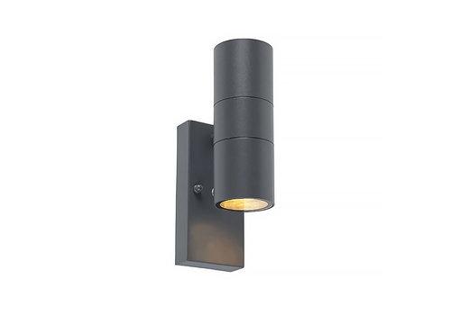 Lamponline Buitenlamp Sense incl. LED 2 lichts dag nacht sensor antraciet