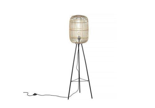 Freelight Vloerlamp Treccia 3 poot Rotan H 139 cm beige zwart