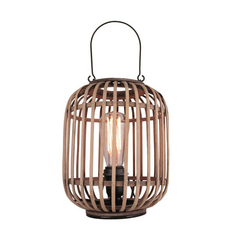 Freelight Tafellamp Treccia Rotan H 26 cm beige zwart