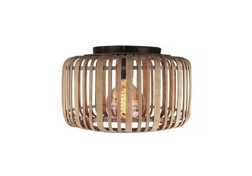 Freelight Plafondlamp Treccia Rotan Ø 34 cm beige zwart