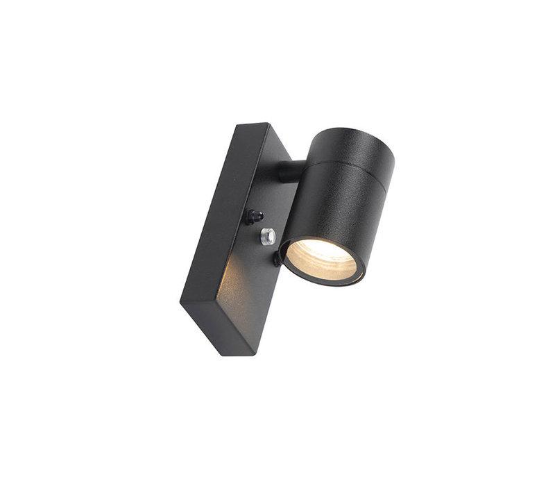 Buitenlamp Sense incl. LED 1 lichts dag nacht sensor zwart