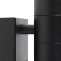 Buitenlamp Sense incl. LED 2 lichts dag nacht sensor zwart
