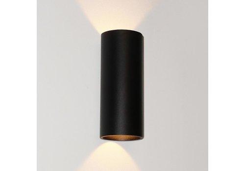Artdelight Wandlamp Brody 2 lichts H 18 cm zwart
