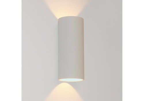 Artdelight Wandlamp Brody 2 lichts H 18 cm wit