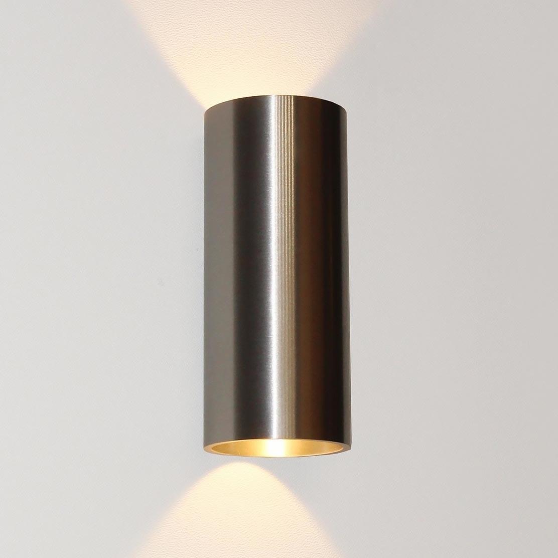 Artdelight Wandlamp Brody 2 lichts H 18 cm aluminium