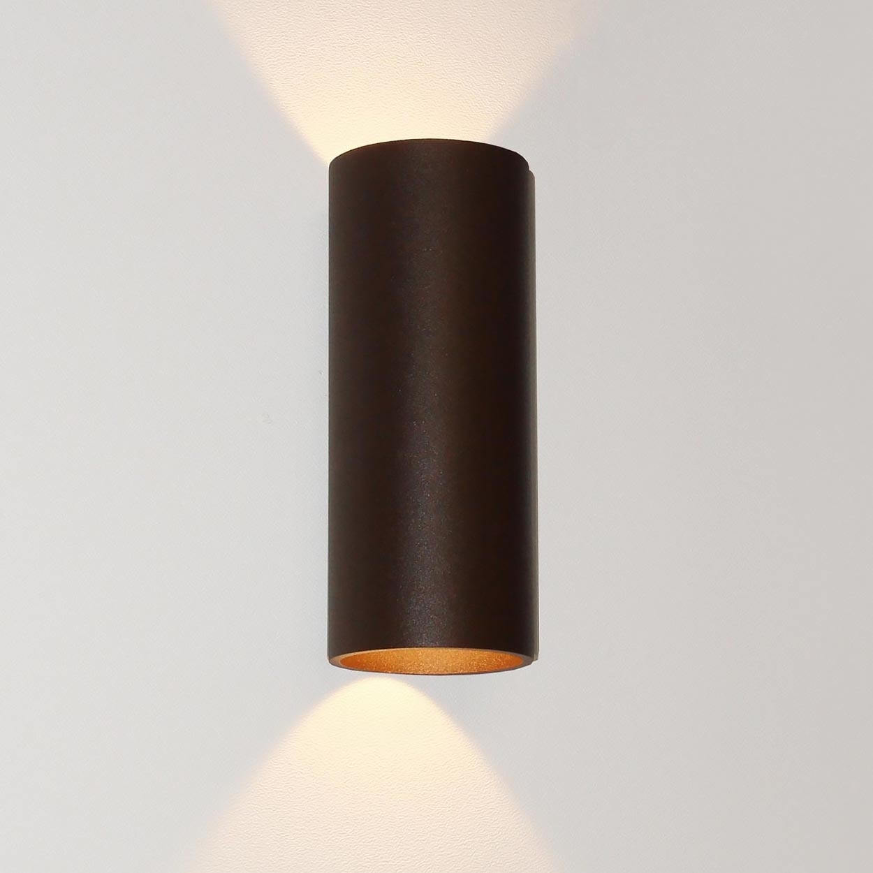 Artdelight Wandlamp Brody 2 lichts H 18 cm bruin