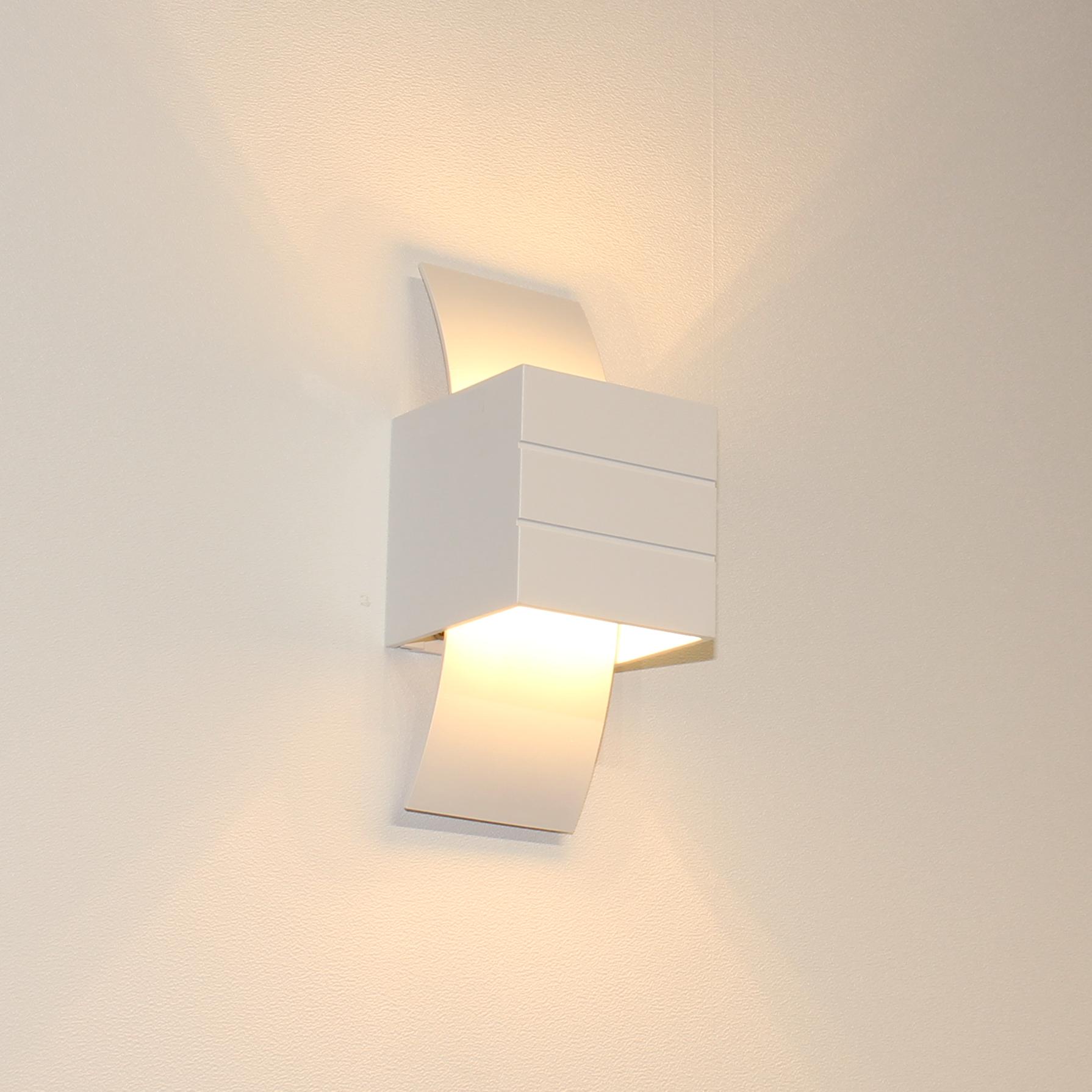 Artdelight Wandlamp Gyhum H 20 cm B 8 cm excl. G9 wit