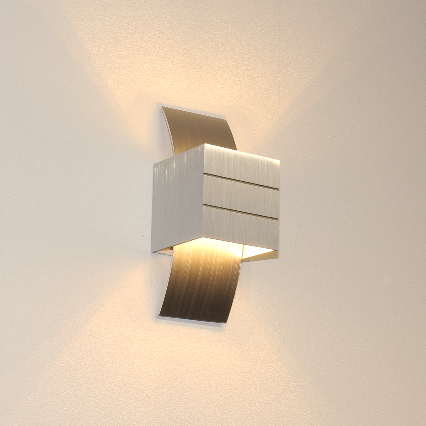 Artdelight Wandlamp Gyhum H 20 cm B 8 cm excl. G9 aluminium