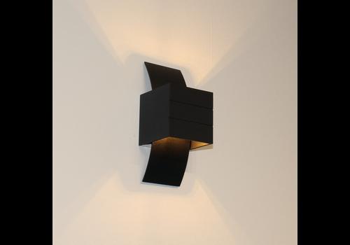 Artdelight Wandlamp Gyhum H 20 cm B 8 cm excl. G9 zwart