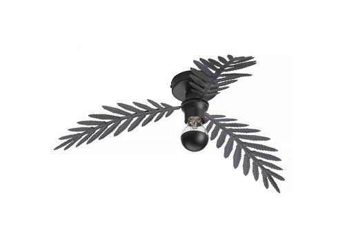 i-Lumen Plafondlamp Palm 3 bladen Ø 55 cm zwart