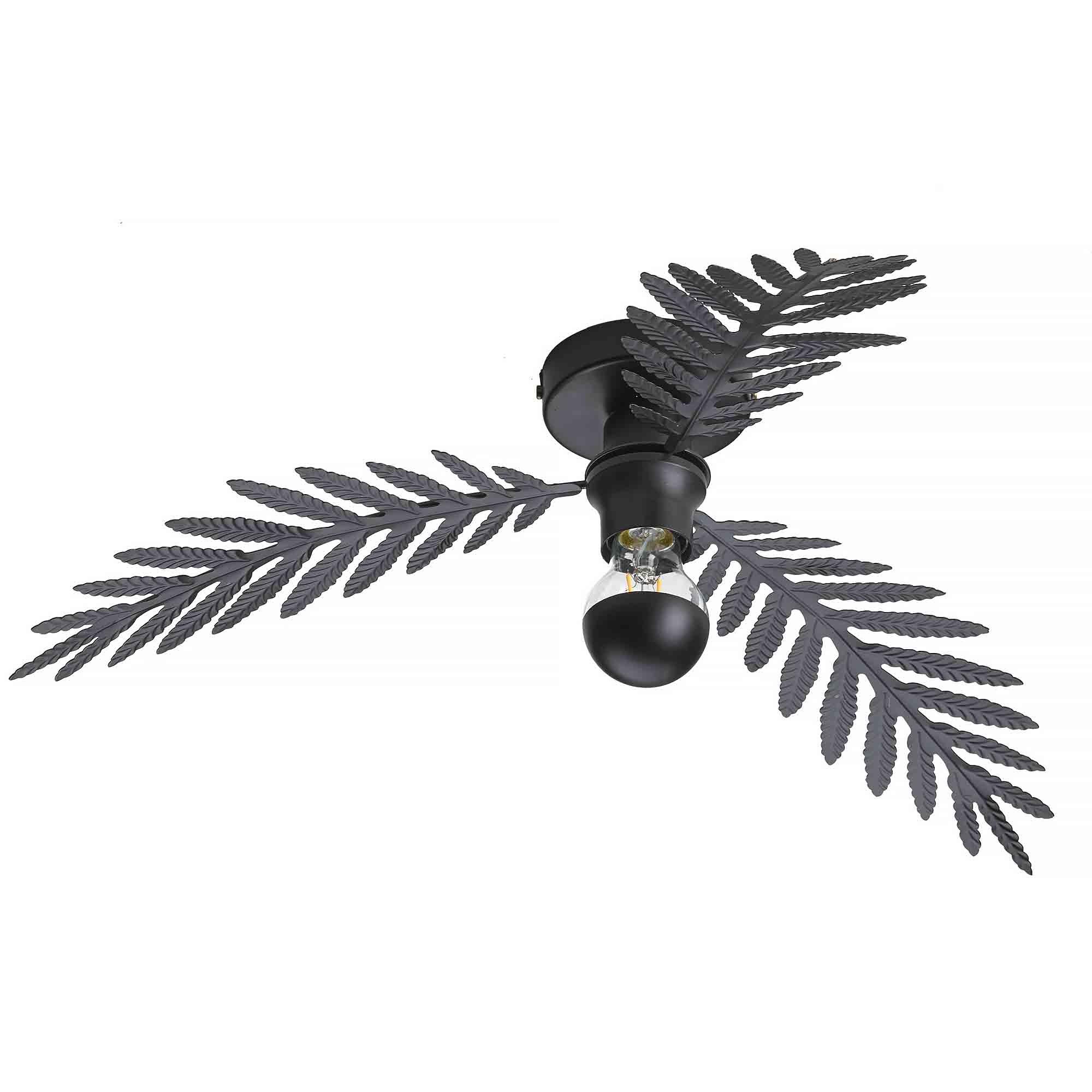 Ylumen Plafondlamp Palm 3 bladen Ø 55 cm zwart
