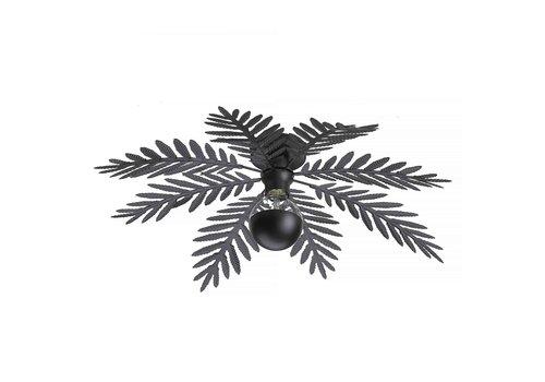 i-Lumen Plafondlamp Palm 8 bladen Ø 65 cm zwart