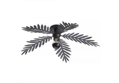 i-Lumen Plafondlamp Palm 5 bladen Ø 60 cm zwart