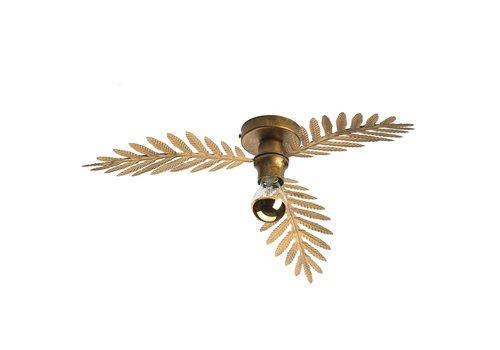i-Lumen Plafondlamp Palm 3 bladen Ø 55 cm goud bruin