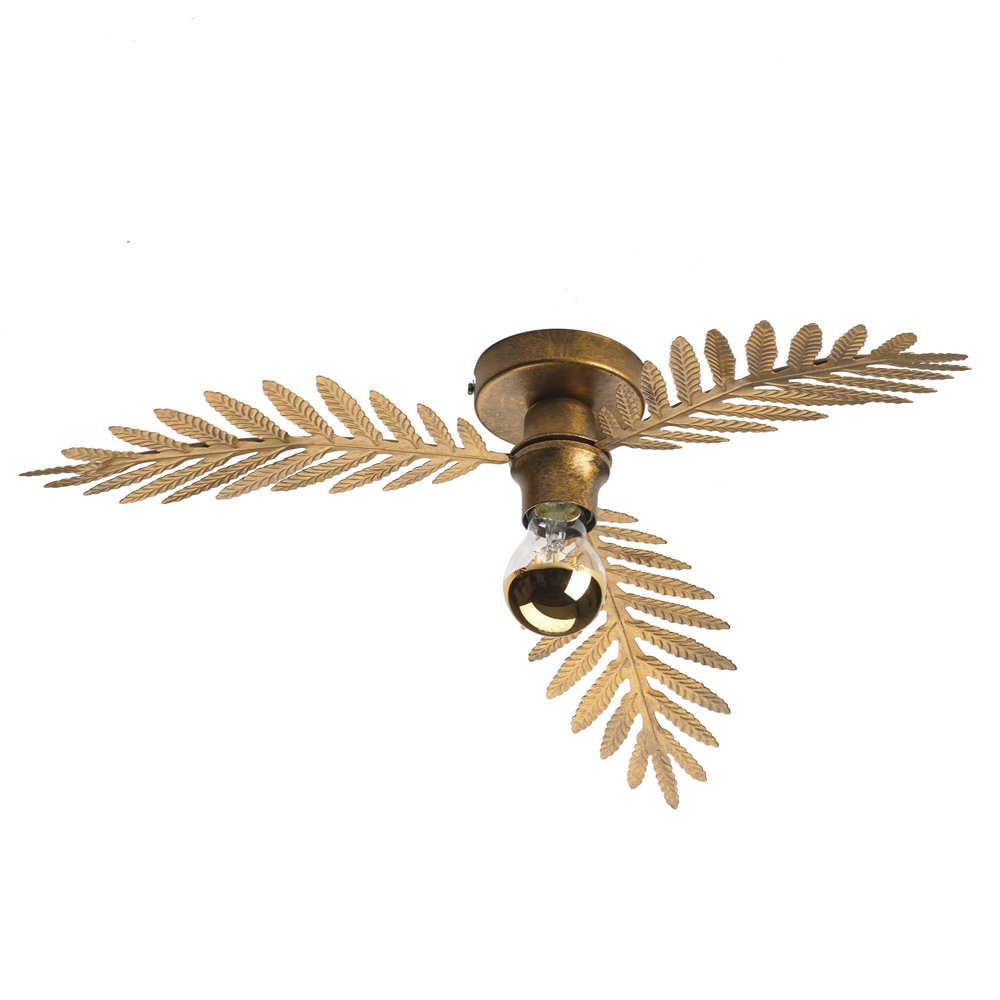 Ylumen Plafondlamp Palm 3 bladen Ø 55 cm goud bruin