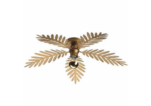 i-Lumen Plafondlamp Palm 5 bladen Ø 60 cm goud bruin