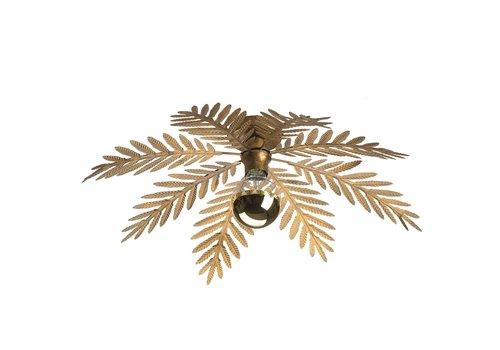 i-Lumen Plafondlamp Palm 8 bladen Ø 65 cm goud bruin