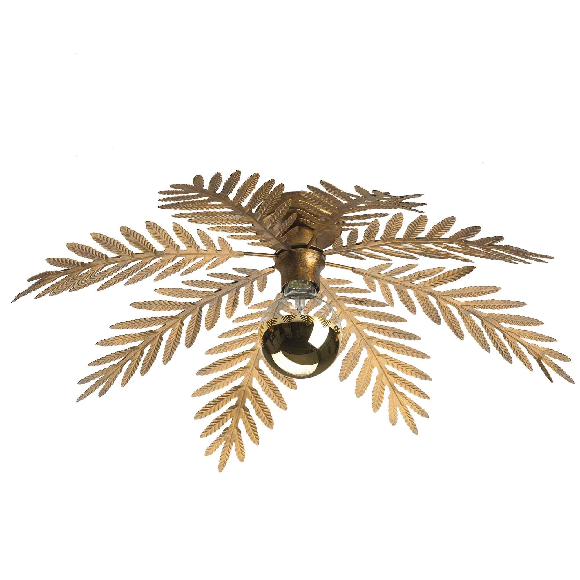 Ylumen Plafondlamp Palm 8 bladen Ø 65 cm goud bruin