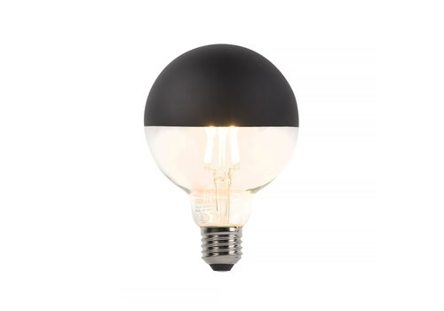 Qazqa Lamp Reflector zwart LED 5W Filament Dimbaar 2700K 400LM