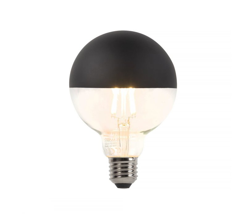 Lamp Reflector zwart LED 5W Filament Dimbaar 2700K 400LM