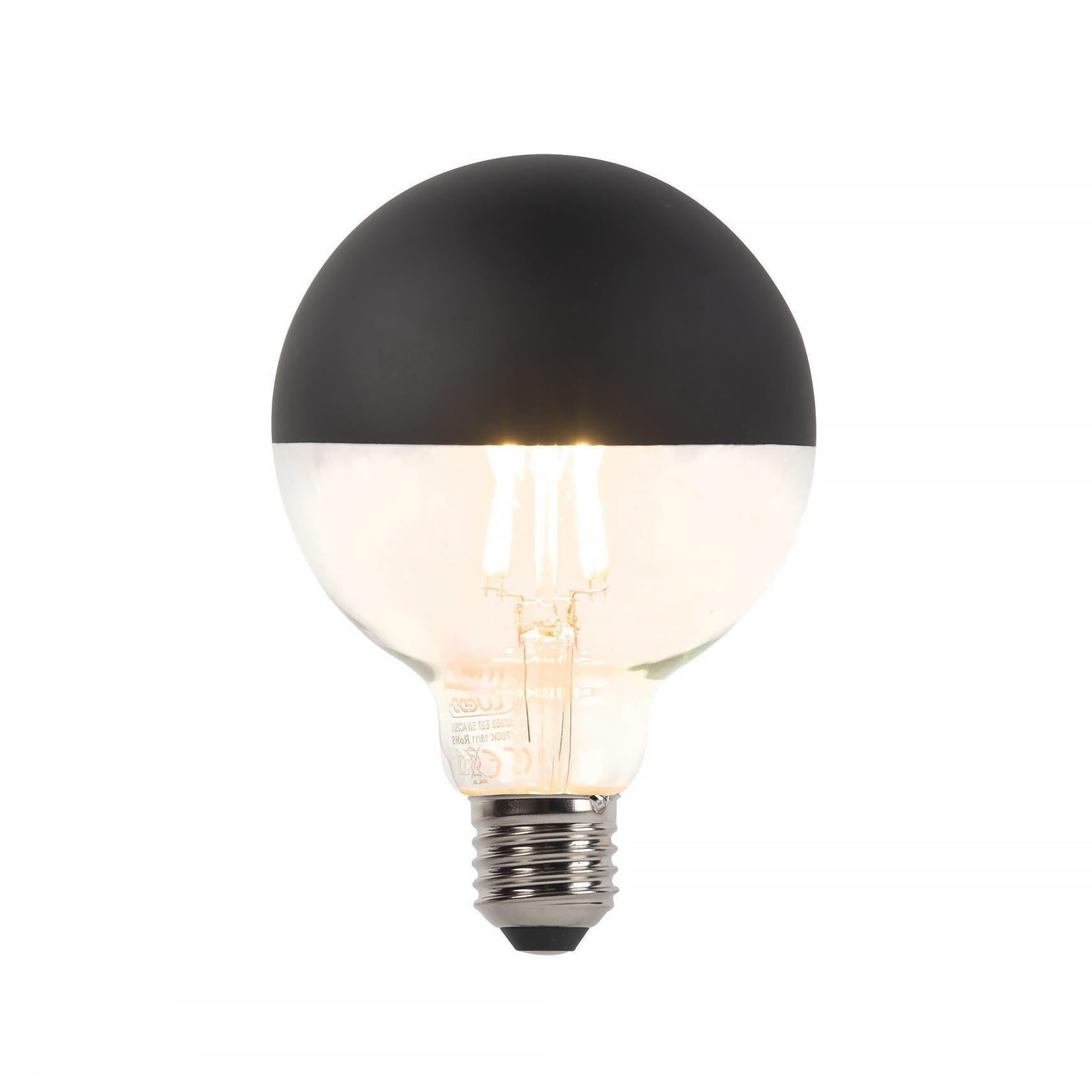 Qazqa Lamp Kopspiegel zwart LED 5W Filament Dimbaar 2700K 400LM