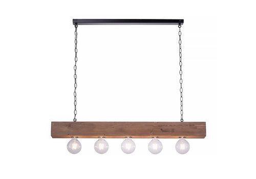 Paul Neuhaus Hanglamp Vanessa 5 lichts L 100 cm bruin